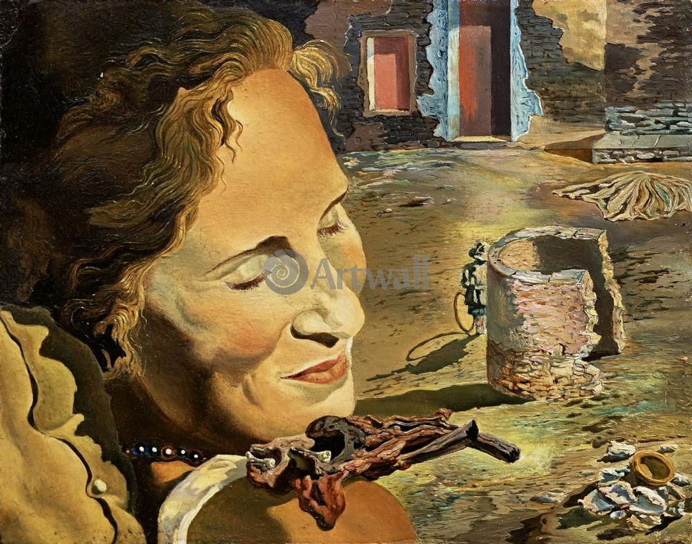 Дали Сальвадор, картина Портрет Гала с двумя ягнятами, находящимися в равновесии на ее плечеДали Сальвадор<br>Репродукция на холсте или бумаге. Любого нужного вам размера. В раме или без. Подвес в комплекте. Трехслойная надежная упаковка. Доставим в любую точку России. Вам осталось только повесить картину на стену!<br>