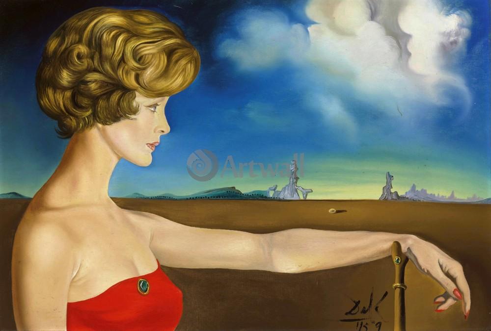 Дали Сальвадор, картина Портрет молодой женщины в пейзажеДали Сальвадор<br>Репродукция на холсте или бумаге. Любого нужного вам размера. В раме или без. Подвес в комплекте. Трехслойная надежная упаковка. Доставим в любую точку России. Вам осталось только повесить картину на стену!<br>