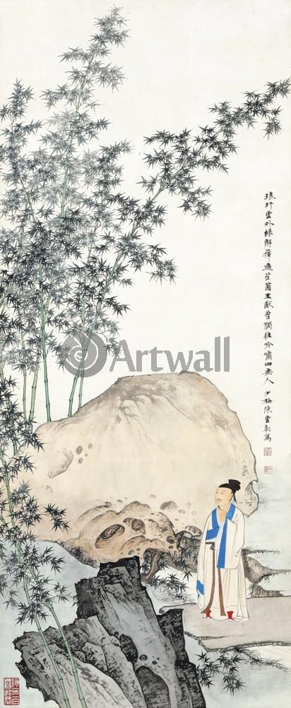 Китайская живопись и графика, картина Репродукция 50030Китайская живопись и графика<br>Репродукция на холсте или бумаге. Любого нужного вам размера. В раме или без. Подвес в комплекте. Трехслойная надежная упаковка. Доставим в любую точку России. Вам осталось только повесить картину на стену!<br>
