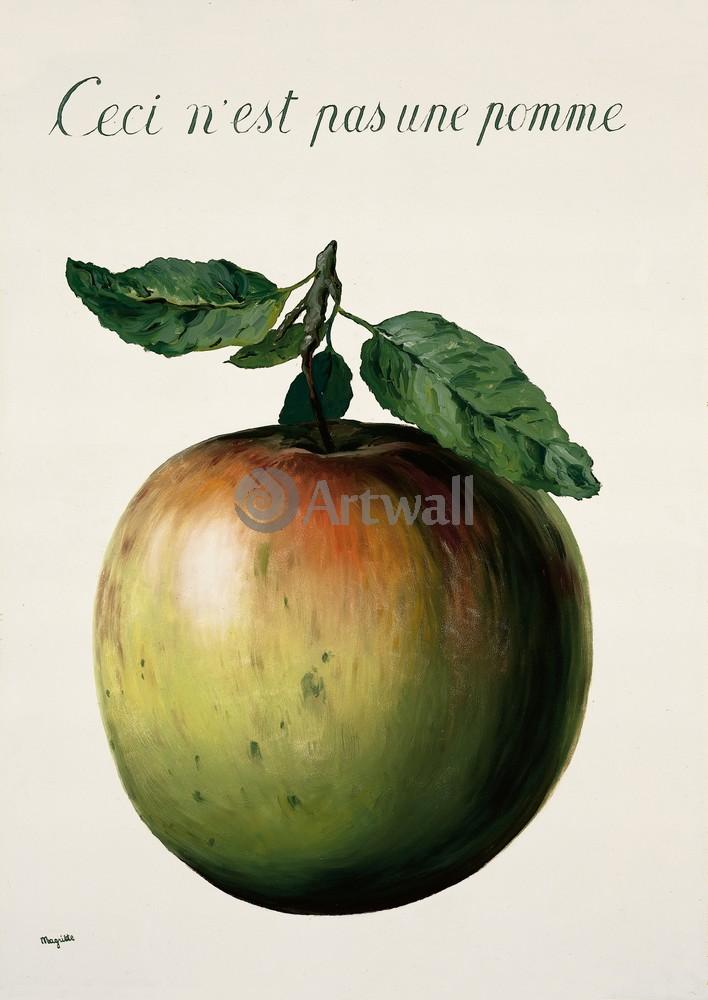 Магритт Рене, картина Это не яблокоМагритт Рене<br>Репродукция на холсте или бумаге. Любого нужного вам размера. В раме или без. Подвес в комплекте. Трехслойная надежная упаковка. Доставим в любую точку России. Вам осталось только повесить картину на стену!<br>