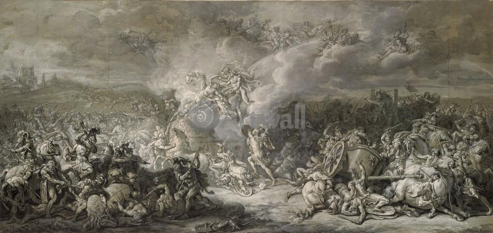 """Давид Жак-Луи, картина """"Битва Диомидов"""" от Artwall"""