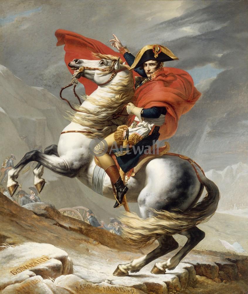 "Давид Жак-Луи, картина ""Бонапарт на перевале Сен-Бернар"" от Artwall"