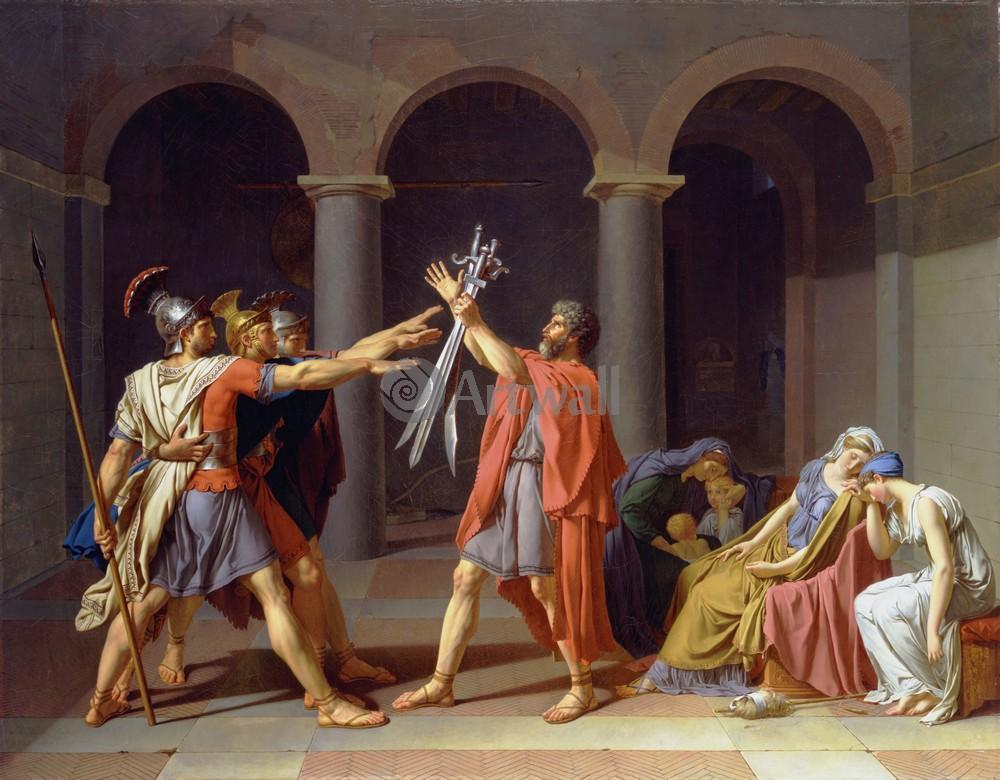 """Давид Жак-Луи, картина """"Клятва Горациев"""" от Artwall"""