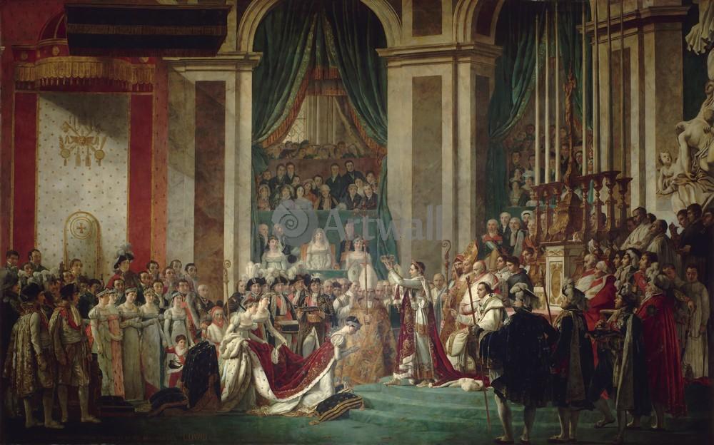 """Давид Жак-Луи, картина """"Коронация императора и императрицы"""" от Artwall"""