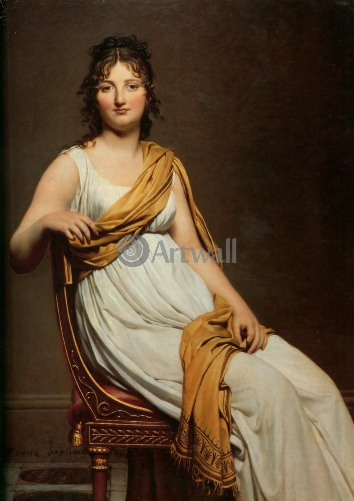 """Давид Жак-Луи, картина """"Мадам Раймонд де Вернинак"""" от Artwall"""