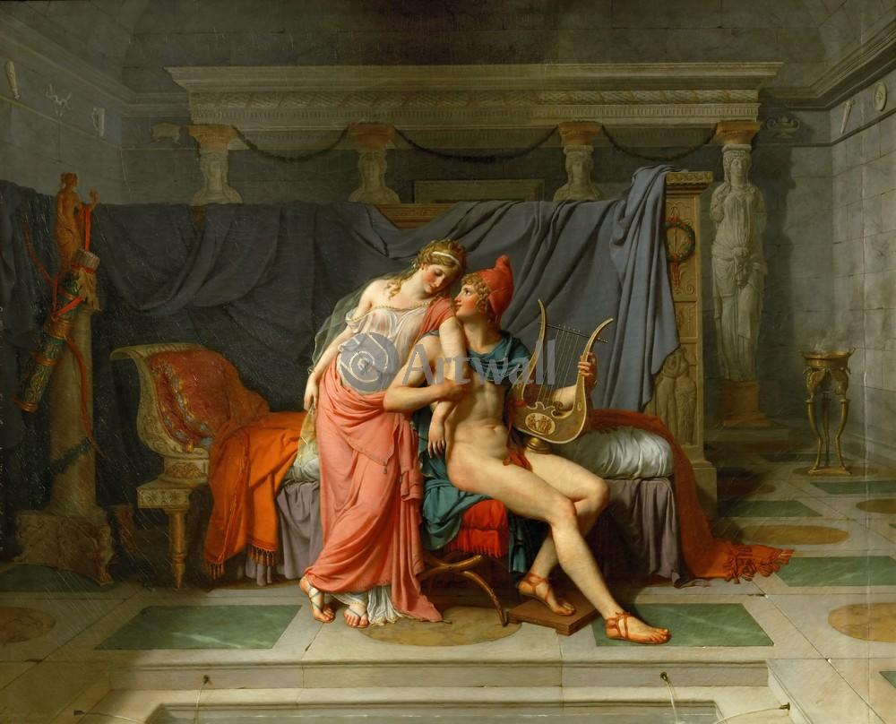 """Давид Жак-Луи, картина """"Парис и Елена"""" от Artwall"""