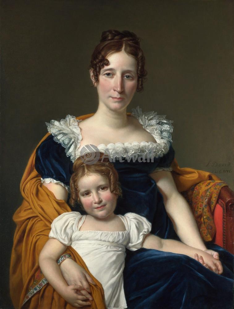 """Давид Жак-Луи, картина """"Портрет графини Вилайн с дочерью"""" от Artwall"""