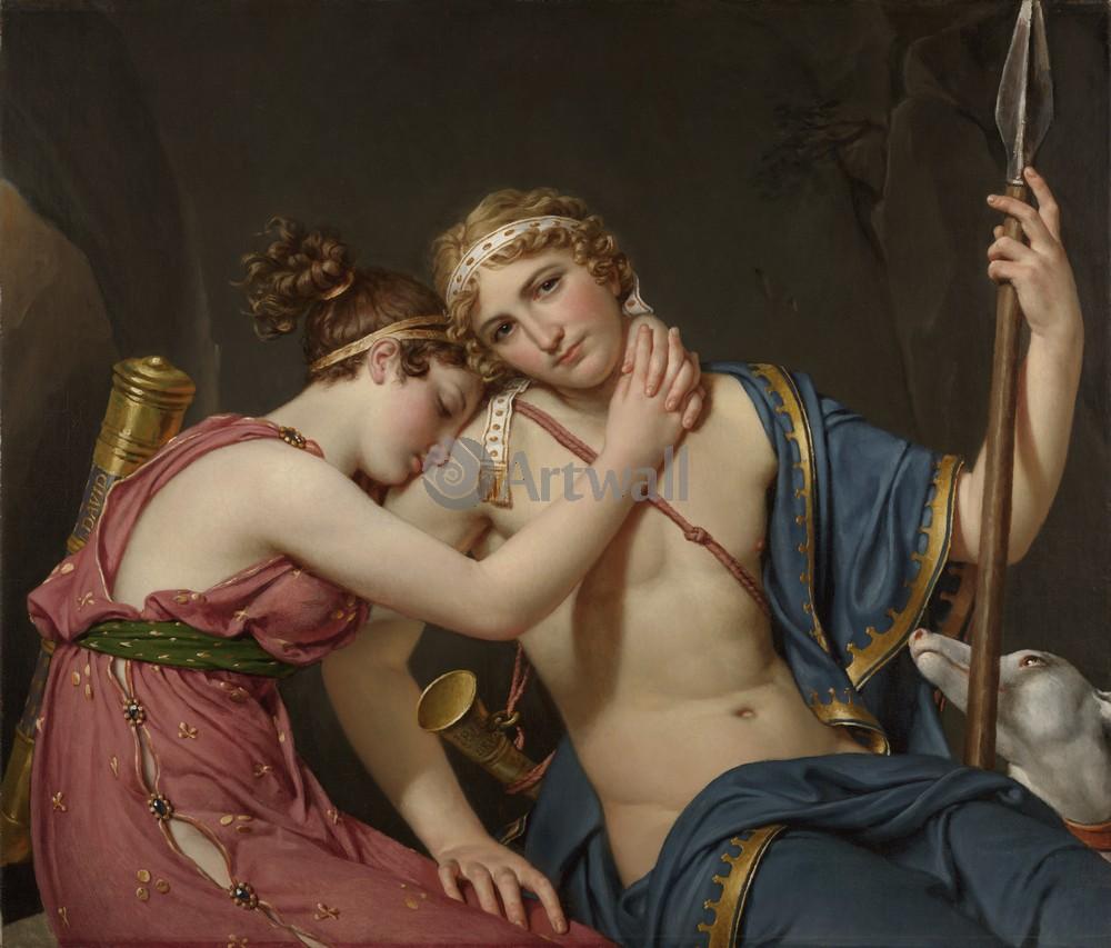 """Давид Жак-Луи, картина """"Прощание Телемаха и нимфы Эухарис"""" от Artwall"""