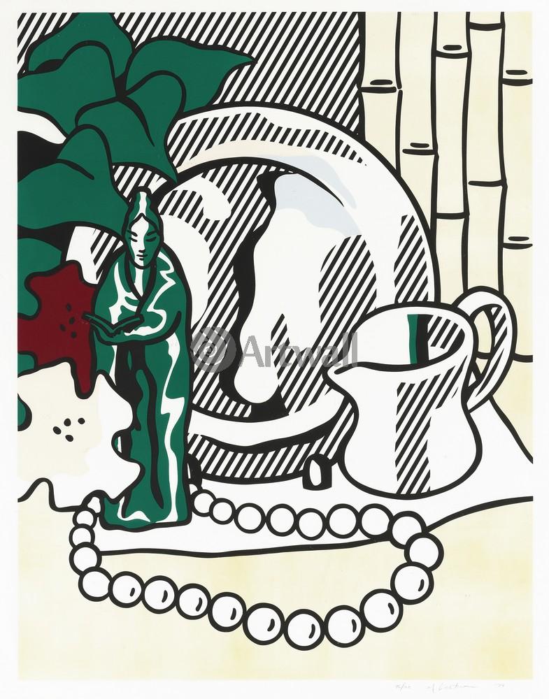 Лихтенштейн Рой, картина Натюрморт со статуэткойЛихтенштейн Рой<br>Репродукция на холсте или бумаге. Любого нужного вам размера. В раме или без. Подвес в комплекте. Трехслойная надежная упаковка. Доставим в любую точку России. Вам осталось только повесить картину на стену!<br>