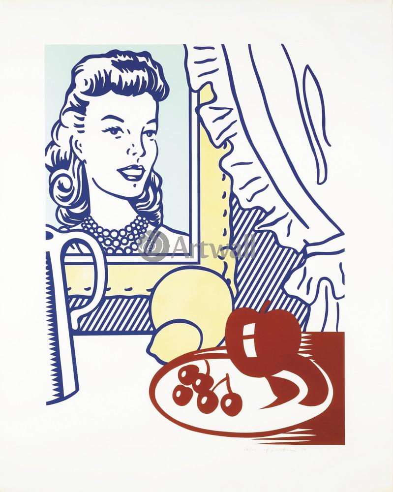 Лихтенштейн Рой, картина Натюрморт с портретомЛихтенштейн Рой<br>Репродукция на холсте или бумаге. Любого нужного вам размера. В раме или без. Подвес в комплекте. Трехслойная надежная упаковка. Доставим в любую точку России. Вам осталось только повесить картину на стену!<br>