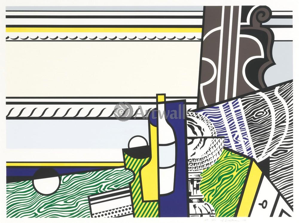 Художники, картина Натюрморт с хрустальной вазой, 27x20 см, на бумагеЛихтенштейн Рой<br>Постер на холсте или бумаге. Любого нужного вам размера. В раме или без. Подвес в комплекте. Трехслойная надежная упаковка. Доставим в любую точку России. Вам осталось только повесить картину на стену!<br>
