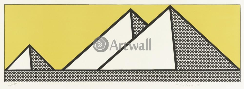 Лихтенштейн Рой, картина ПирамидыЛихтенштейн Рой<br>Репродукция на холсте или бумаге. Любого нужного вам размера. В раме или без. Подвес в комплекте. Трехслойная надежная упаковка. Доставим в любую точку России. Вам осталось только повесить картину на стену!<br>