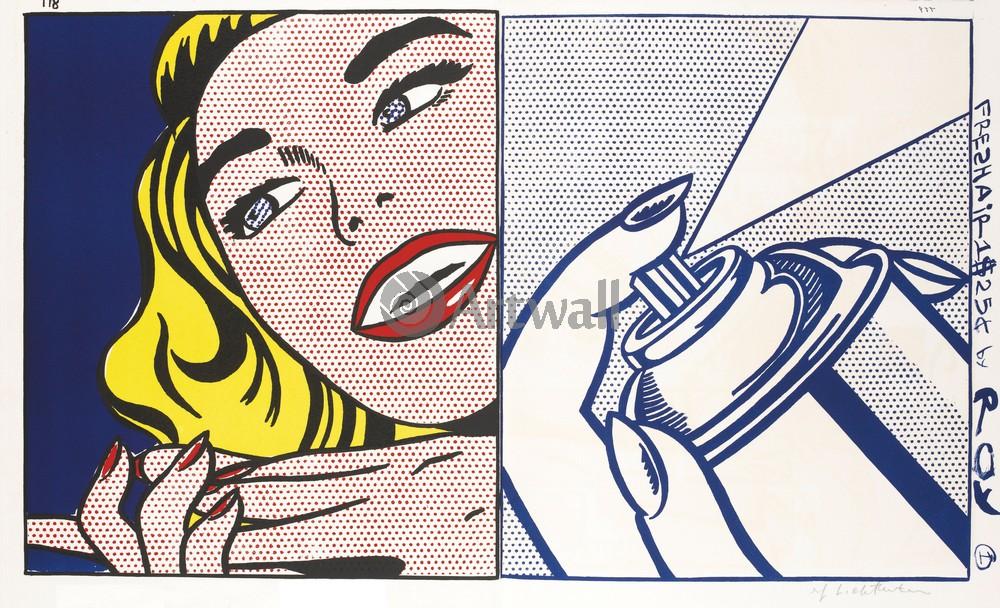 Лихтенштейн Рой, картина По АмерикеЛихтенштейн Рой<br>Репродукция на холсте или бумаге. Любого нужного вам размера. В раме или без. Подвес в комплекте. Трехслойная надежная упаковка. Доставим в любую точку России. Вам осталось только повесить картину на стену!<br>