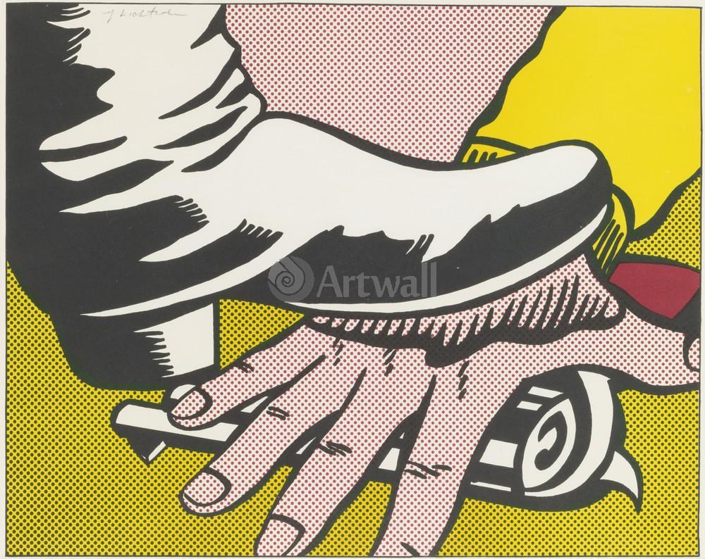 Лихтенштейн Рой, картина Рука и ногаЛихтенштейн Рой<br>Репродукция на холсте или бумаге. Любого нужного вам размера. В раме или без. Подвес в комплекте. Трехслойная надежная упаковка. Доставим в любую точку России. Вам осталось только повесить картину на стену!<br>