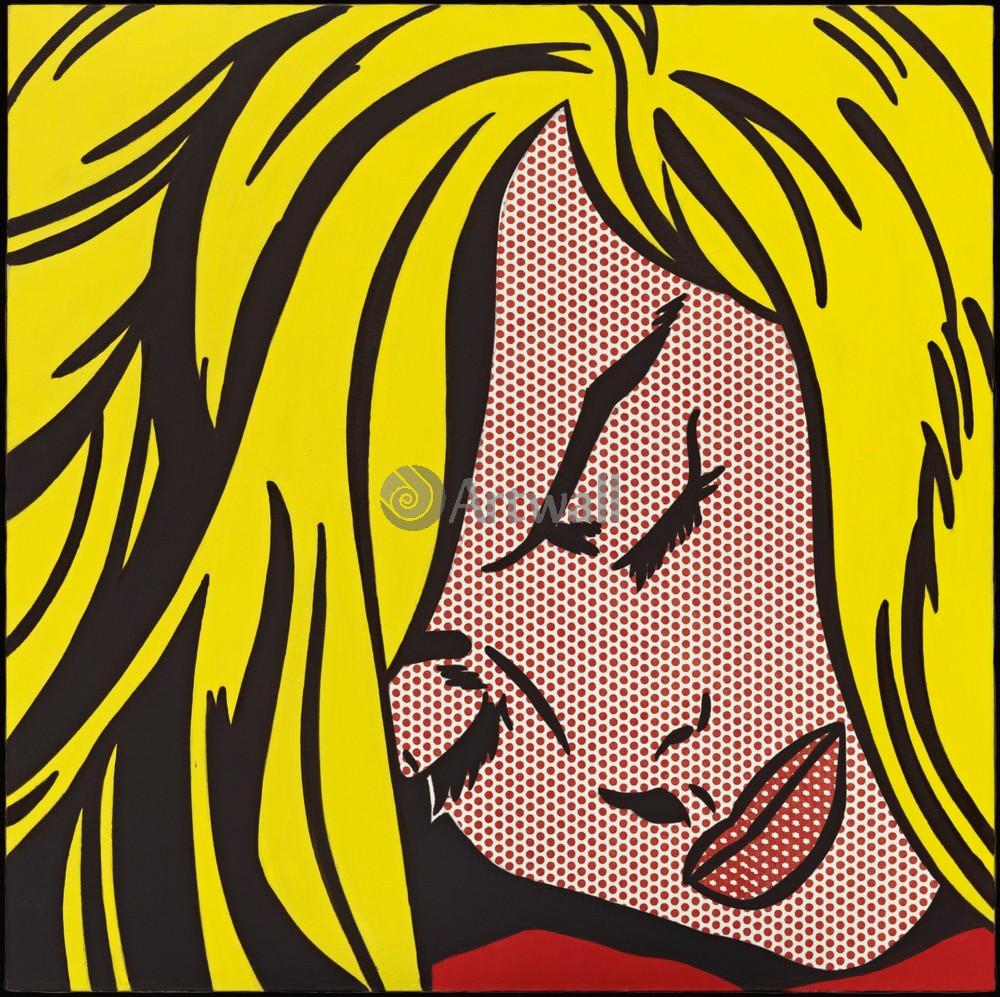 Лихтенштейн Рой, картина Спящая девушкаЛихтенштейн Рой<br>Репродукция на холсте или бумаге. Любого нужного вам размера. В раме или без. Подвес в комплекте. Трехслойная надежная упаковка. Доставим в любую точку России. Вам осталось только повесить картину на стену!<br>