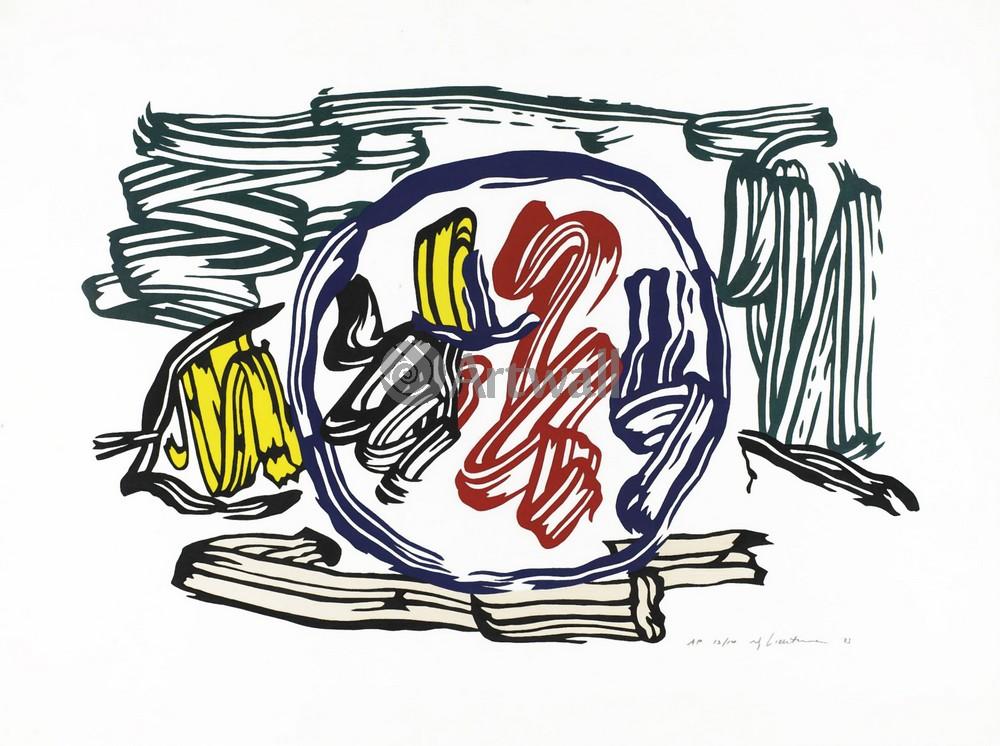 Лихтенштейн Рой, картина Яблоко и лимонЛихтенштейн Рой<br>Репродукция на холсте или бумаге. Любого нужного вам размера. В раме или без. Подвес в комплекте. Трехслойная надежная упаковка. Доставим в любую точку России. Вам осталось только повесить картину на стену!<br>