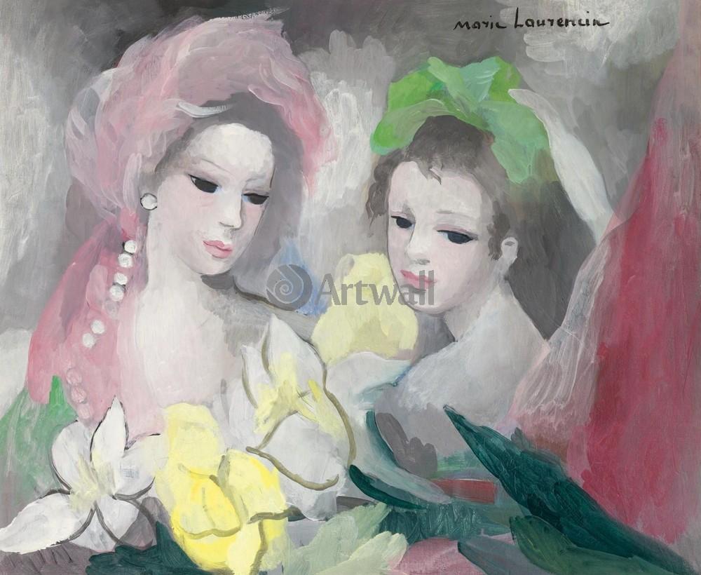 Лорансен Мари, картина Две девушки с цветамиЛорансен Мари<br>Репродукция на холсте или бумаге. Любого нужного вам размера. В раме или без. Подвес в комплекте. Трехслойная надежная упаковка. Доставим в любую точку России. Вам осталось только повесить картину на стену!<br>
