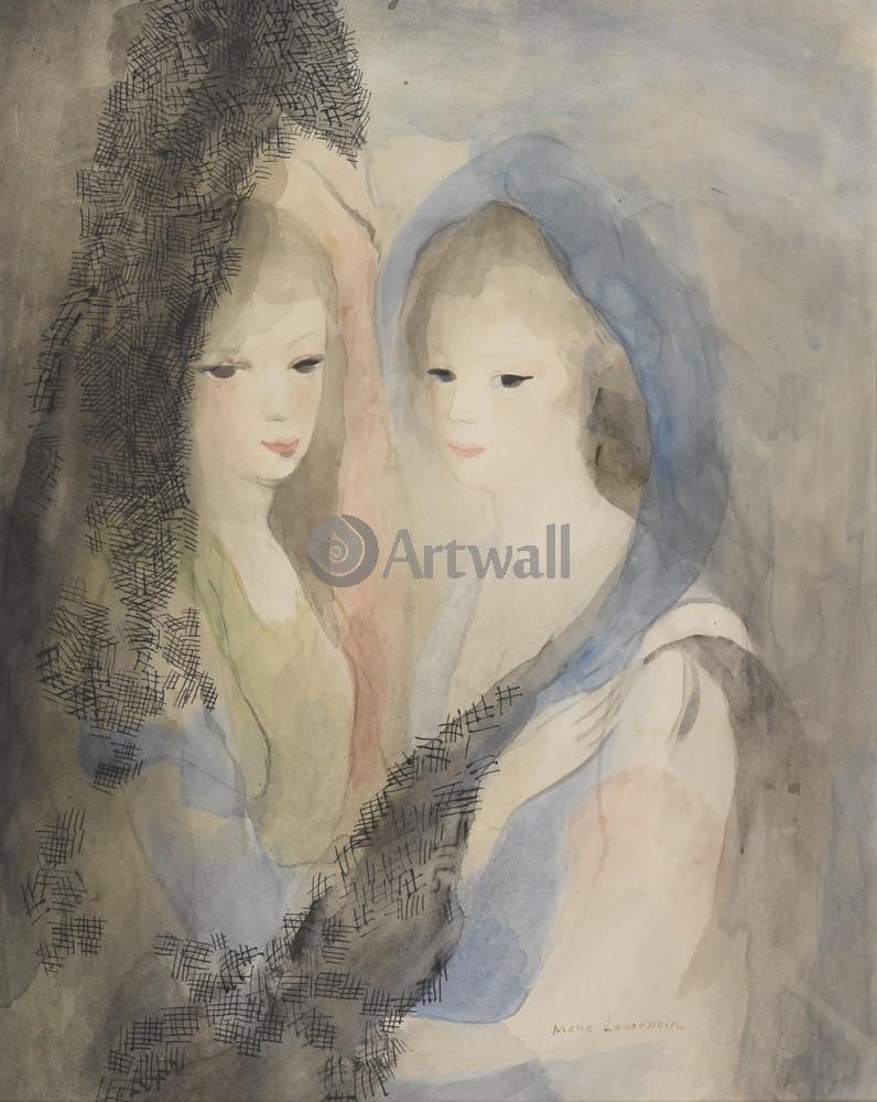Лорансен Мари, картина Две молодые женщины в мантильеЛорансен Мари<br>Репродукция на холсте или бумаге. Любого нужного вам размера. В раме или без. Подвес в комплекте. Трехслойная надежная упаковка. Доставим в любую точку России. Вам осталось только повесить картину на стену!<br>