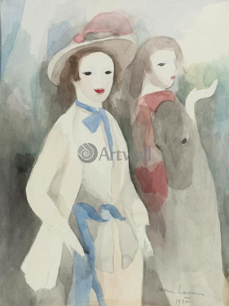 Лорансен Мари, картина Две молодые женщины и лошадьЛорансен Мари<br>Репродукция на холсте или бумаге. Любого нужного вам размера. В раме или без. Подвес в комплекте. Трехслойная надежная упаковка. Доставим в любую точку России. Вам осталось только повесить картину на стену!<br>