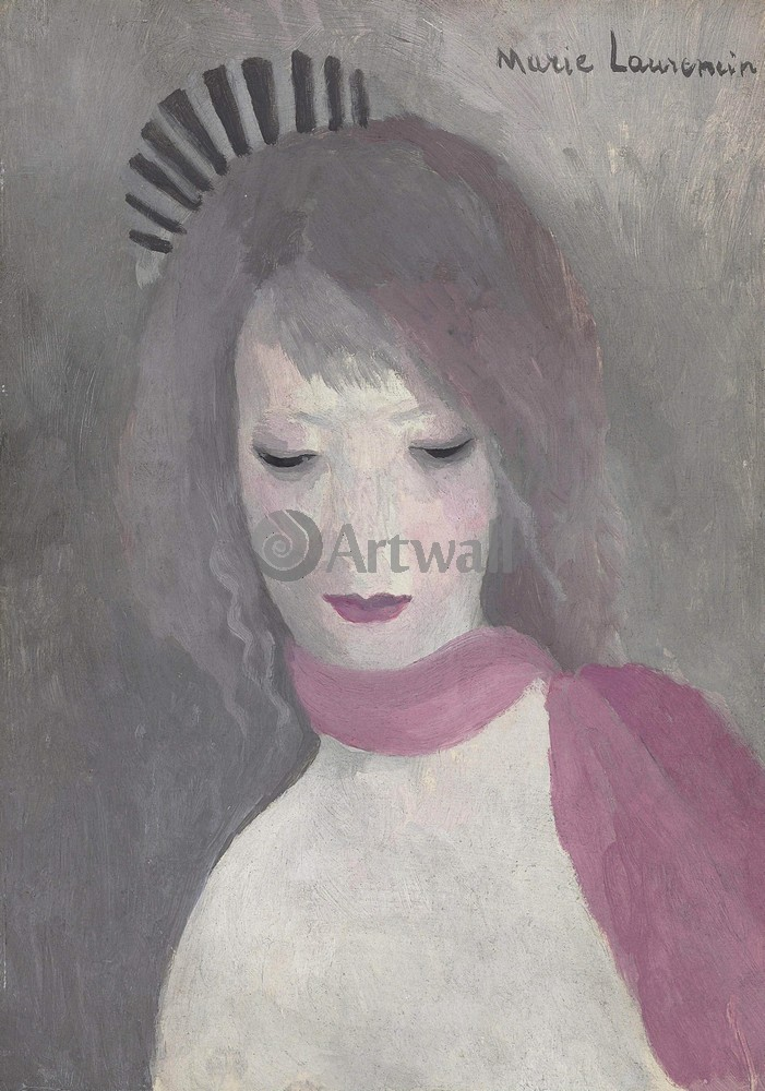 Лорансен Мари, картина Девушка в розовом шарфеЛорансен Мари<br>Репродукция на холсте или бумаге. Любого нужного вам размера. В раме или без. Подвес в комплекте. Трехслойная надежная упаковка. Доставим в любую точку России. Вам осталось только повесить картину на стену!<br>