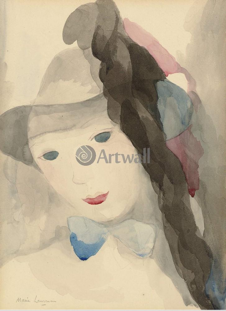 Лорансен Мари, картина Девушка с голубым бантомЛорансен Мари<br>Репродукция на холсте или бумаге. Любого нужного вам размера. В раме или без. Подвес в комплекте. Трехслойная надежная упаковка. Доставим в любую точку России. Вам осталось только повесить картину на стену!<br>