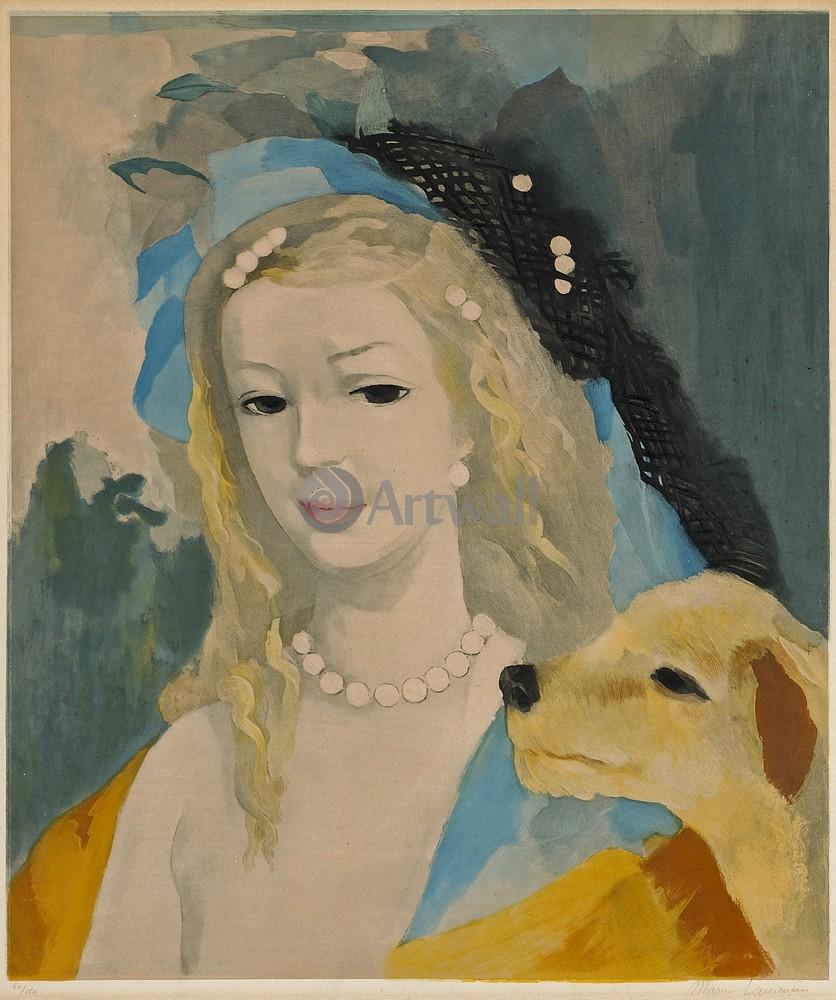 Лорансен Мари, картина Девушка с собакойЛорансен Мари<br>Репродукция на холсте или бумаге. Любого нужного вам размера. В раме или без. Подвес в комплекте. Трехслойная надежная упаковка. Доставим в любую точку России. Вам осталось только повесить картину на стену!<br>