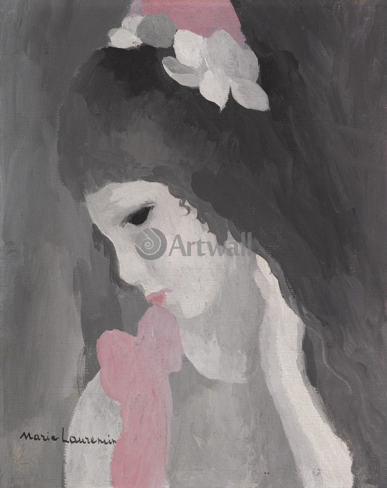 Лорансен Мари, картина Женский портретЛорансен Мари<br>Репродукция на холсте или бумаге. Любого нужного вам размера. В раме или без. Подвес в комплекте. Трехслойная надежная упаковка. Доставим в любую точку России. Вам осталось только повесить картину на стену!<br>