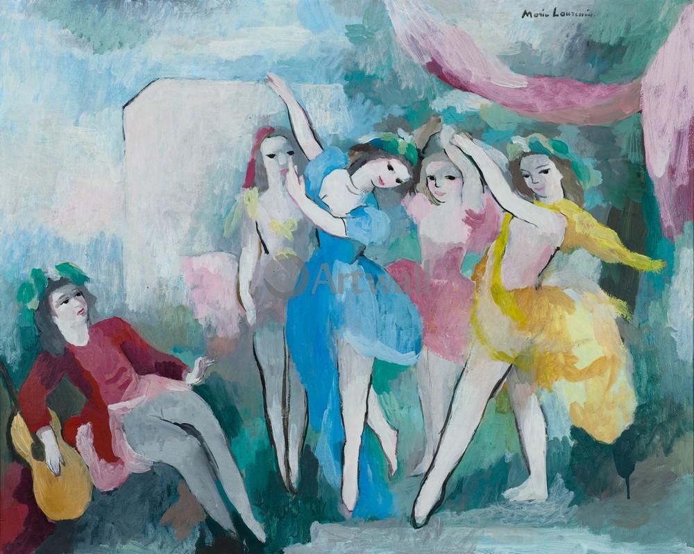 Лорансен Мари, картина ТанцующиеЛорансен Мари<br>Репродукция на холсте или бумаге. Любого нужного вам размера. В раме или без. Подвес в комплекте. Трехслойная надежная упаковка. Доставим в любую точку России. Вам осталось только повесить картину на стену!<br>
