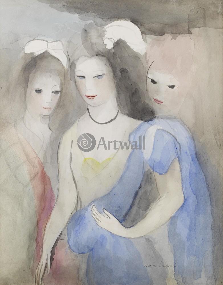 Лорансен Мари, картина Три девушкиЛорансен Мари<br>Репродукция на холсте или бумаге. Любого нужного вам размера. В раме или без. Подвес в комплекте. Трехслойная надежная упаковка. Доставим в любую точку России. Вам осталось только повесить картину на стену!<br>