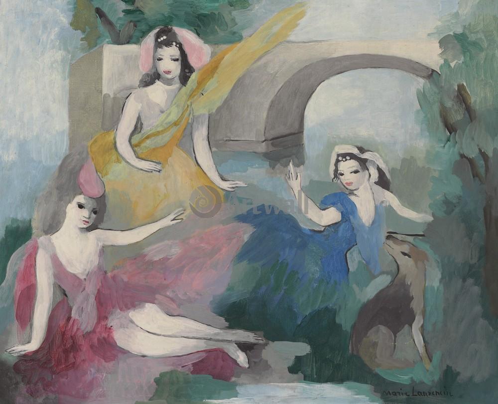 Лорансен Мари, картина Три девушки перед мостомЛорансен Мари<br>Репродукция на холсте или бумаге. Любого нужного вам размера. В раме или без. Подвес в комплекте. Трехслойная надежная упаковка. Доставим в любую точку России. Вам осталось только повесить картину на стену!<br>