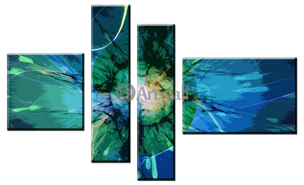 Модульная картина «Взрыв рождения», 82x50 см, модульная картинаАбстракция<br>Модульная картина на натуральном холсте и деревянном подрамнике. Подвес в комплекте. Трехслойная надежная упаковка. Доставим в любую точку России. Вам осталось только повесить картину на стену!<br>