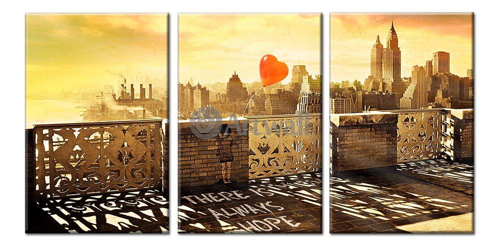 Модульная картина «Надежда (Манхэттен 1931)», 101x50 см, модульная картинаГорода<br>Модульная картина на натуральном холсте и деревянном подрамнике. Подвес в комплекте. Трехслойная надежная упаковка. Доставим в любую точку России. Вам осталось только повесить картину на стену!<br>