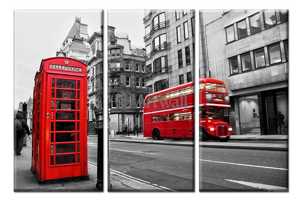 Модульная картина «Улица Лондона»Города<br>Модульная картина на натуральном холсте и деревянном подрамнике. Подвес в комплекте. Трехслойная надежная упаковка. Доставим в любую точку России. Вам осталось только повесить картину на стену!<br>