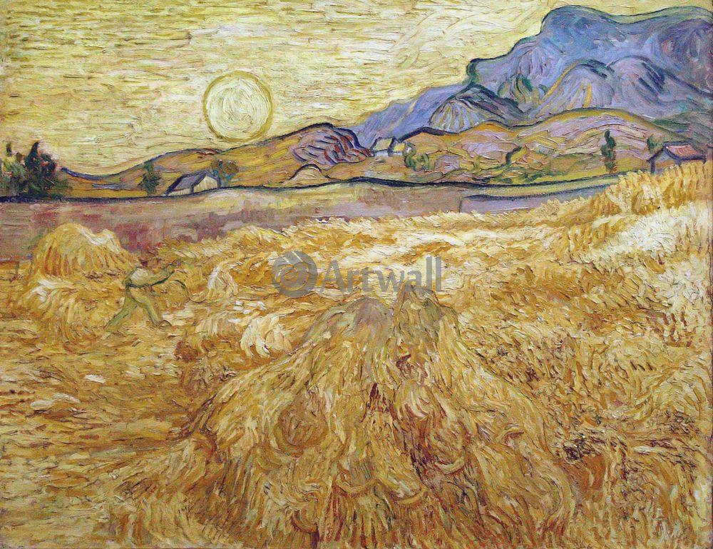 Ван Гог Винсент, картина Пшеничное поле со жнецомВан Гог Винсент<br>Репродукция на холсте или бумаге. Любого нужного вам размера. В раме или без. Подвес в комплекте. Трехслойная надежная упаковка. Доставим в любую точку России. Вам осталось только повесить картину на стену!<br>