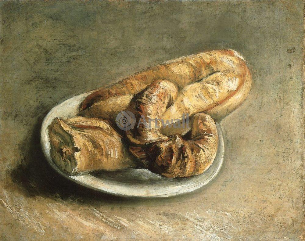 Ван Гог Винсент, картина Тарелка с хлебомВан Гог Винсент<br>Репродукция на холсте или бумаге. Любого нужного вам размера. В раме или без. Подвес в комплекте. Трехслойная надежная упаковка. Доставим в любую точку России. Вам осталось только повесить картину на стену!<br>