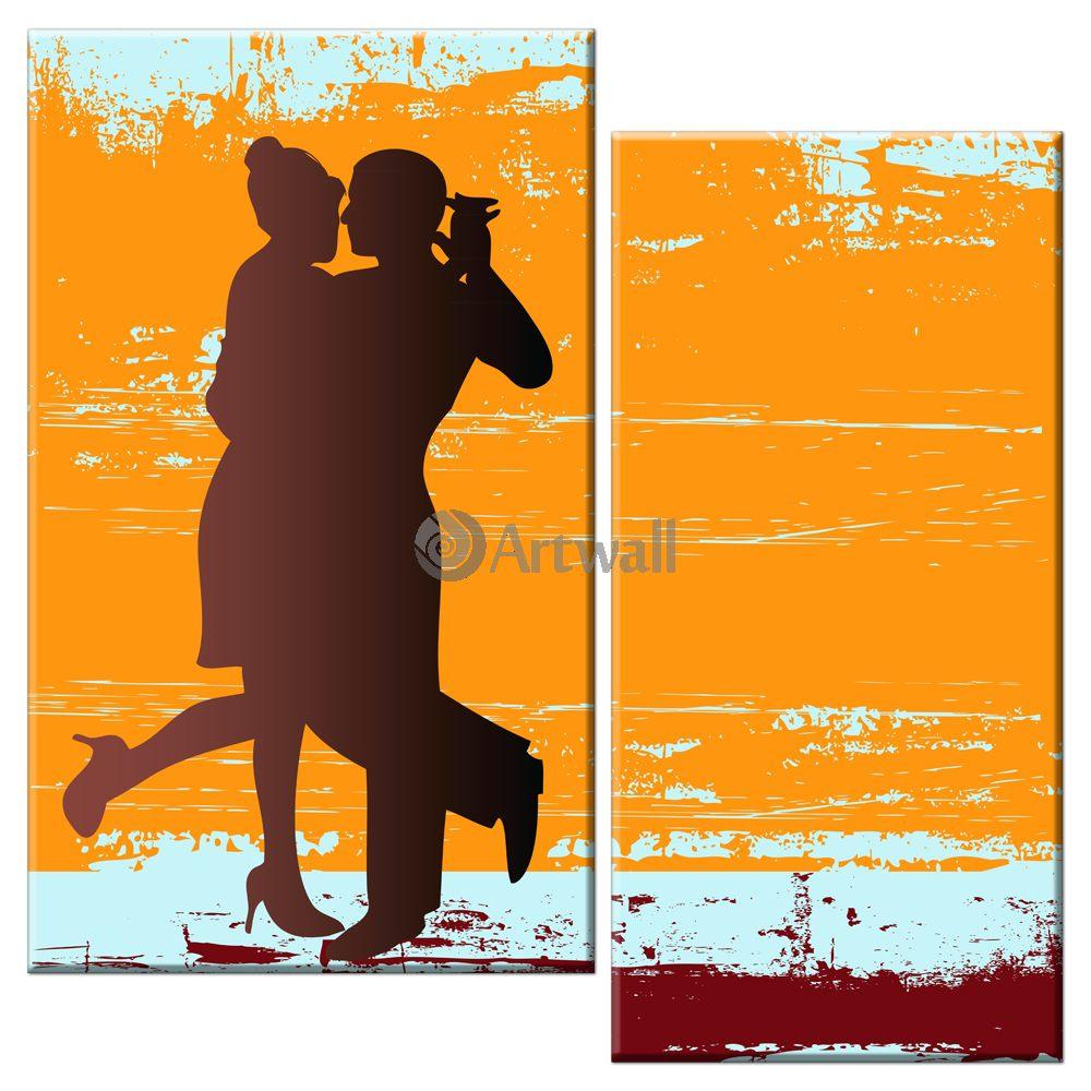 Модульная картина «Танго»Люди<br>Модульная картина на натуральном холсте и деревянном подрамнике. Подвес в комплекте. Трехслойная надежная упаковка. Доставим в любую точку России. Вам осталось только повесить картину на стену!<br>