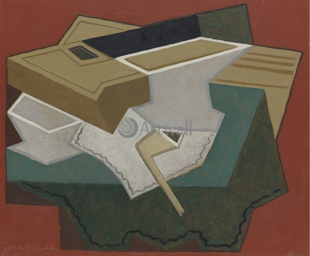 Грис Хуан, картина Белая салфеткаГрис Хуан<br>Репродукция на холсте или бумаге. Любого нужного вам размера. В раме или без. Подвес в комплекте. Трехслойная надежная упаковка. Доставим в любую точку России. Вам осталось только повесить картину на стену!<br>
