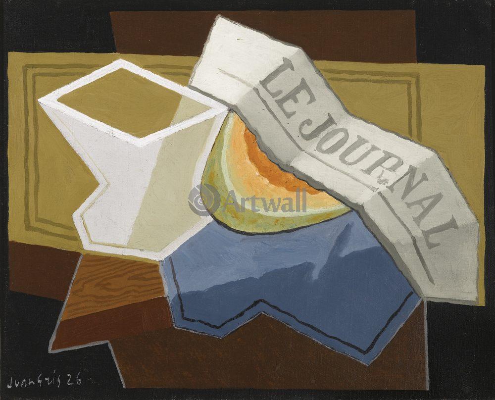 Грис Хуан, картина Кусок дыниГрис Хуан<br>Репродукция на холсте или бумаге. Любого нужного вам размера. В раме или без. Подвес в комплекте. Трехслойная надежная упаковка. Доставим в любую точку России. Вам осталось только повесить картину на стену!<br>