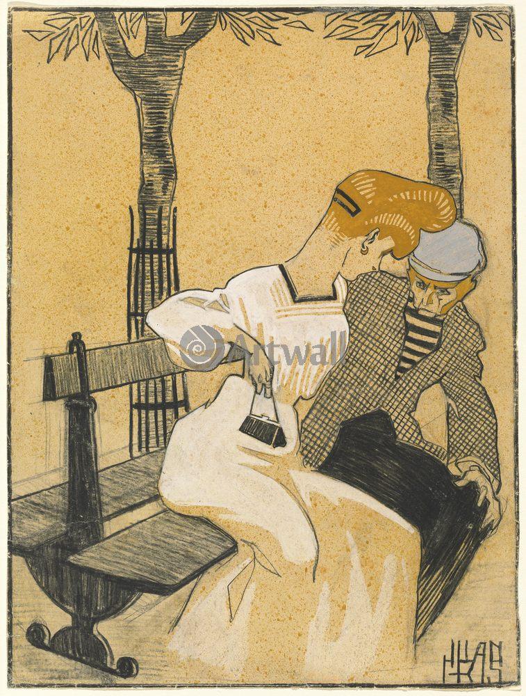 Грис Хуан, картина Мужчина и женщина на скамейкеГрис Хуан<br>Репродукция на холсте или бумаге. Любого нужного вам размера. В раме или без. Подвес в комплекте. Трехслойная надежная упаковка. Доставим в любую точку России. Вам осталось только повесить картину на стену!<br>