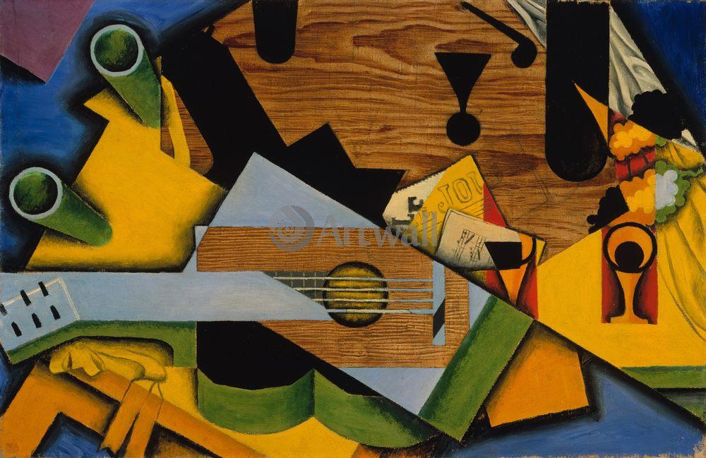 Грис Хуан, картина Натюрморт с гитаройГрис Хуан<br>Репродукция на холсте или бумаге. Любого нужного вам размера. В раме или без. Подвес в комплекте. Трехслойная надежная упаковка. Доставим в любую точку России. Вам осталось только повесить картину на стену!<br>