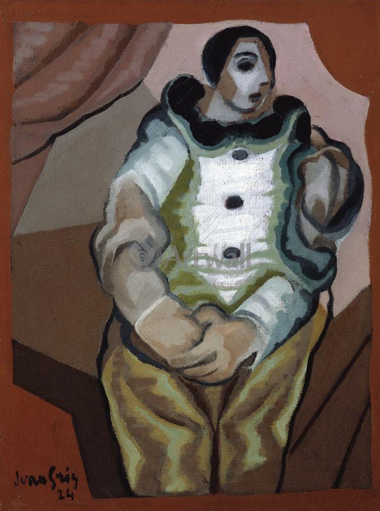 Грис Хуан, картина Пьеро со сложенными рукамиГрис Хуан<br>Репродукция на холсте или бумаге. Любого нужного вам размера. В раме или без. Подвес в комплекте. Трехслойная надежная упаковка. Доставим в любую точку России. Вам осталось только повесить картину на стену!<br>