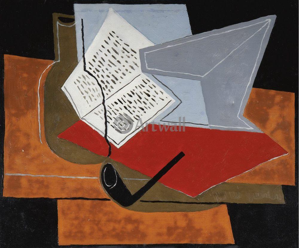 Художники, картина Чаша и книга, 24x20 см, на бумагеГрис Хуан<br>Постер на холсте или бумаге. Любого нужного вам размера. В раме или без. Подвес в комплекте. Трехслойная надежная упаковка. Доставим в любую точку России. Вам осталось только повесить картину на стену!<br>