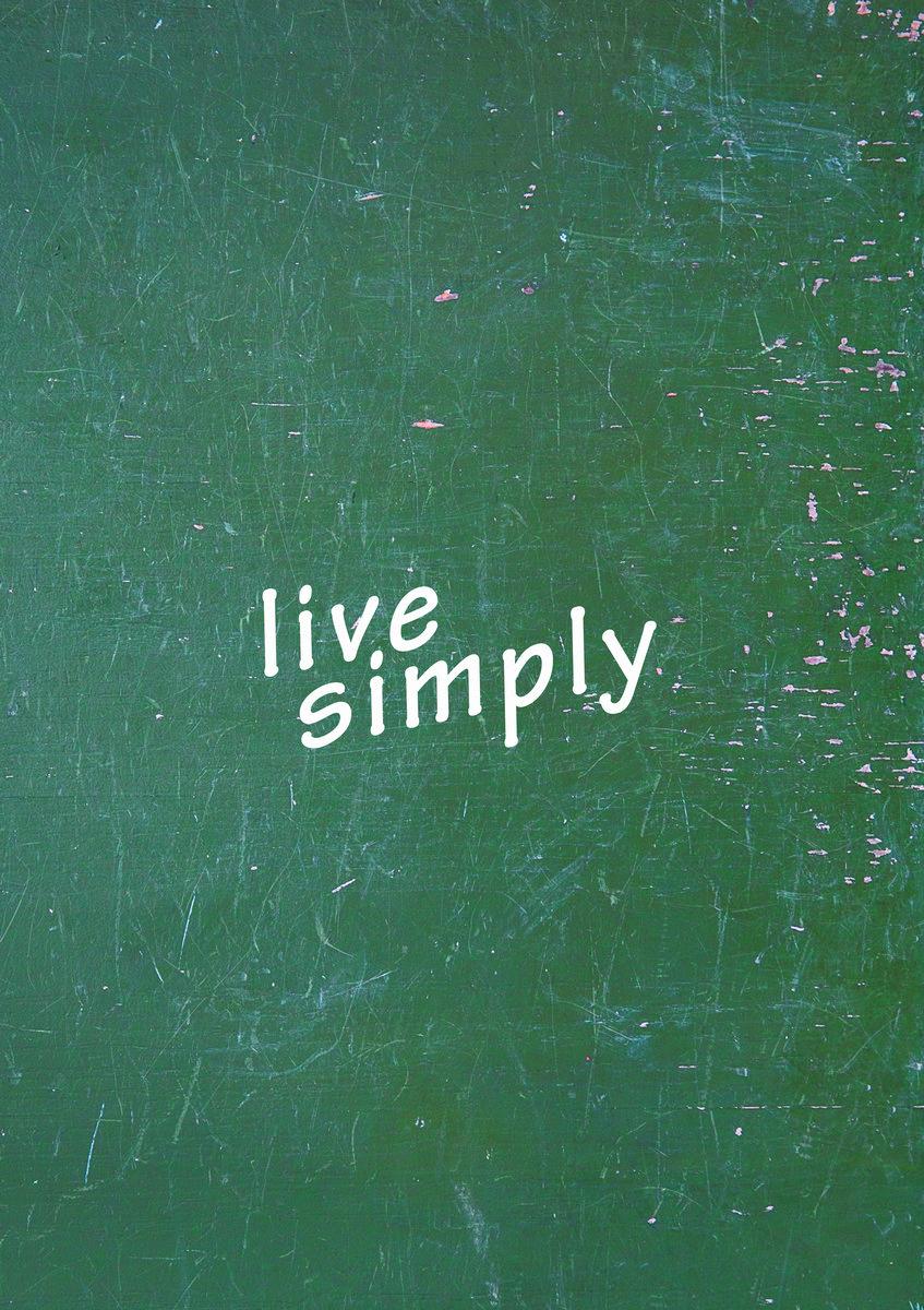 Постер-картина Мотивационный плакат Live simplyМотивационный плакат<br>Постер на холсте или бумаге. Любого нужного вам размера. В раме или без. Подвес в комплекте. Трехслойная надежная упаковка. Доставим в любую точку России. Вам осталось только повесить картину на стену!<br>