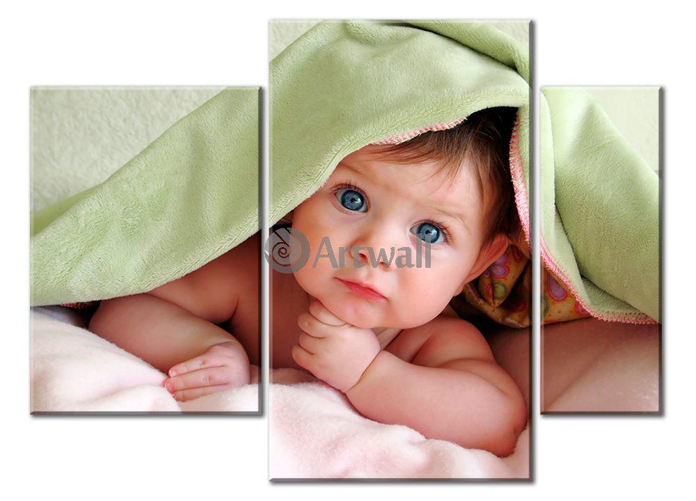 Модульная картина «Малыш»Люди<br>Модульная картина на натуральном холсте и деревянном подрамнике. Подвес в комплекте. Трехслойная надежная упаковка. Доставим в любую точку России. Вам осталось только повесить картину на стену!<br>