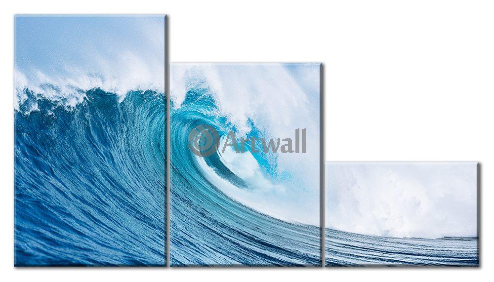 Модульная картина «Мечта серфера»Море<br>Модульная картина на натуральном холсте и деревянном подрамнике. Подвес в комплекте. Трехслойная надежная упаковка. Доставим в любую точку России. Вам осталось только повесить картину на стену!<br>