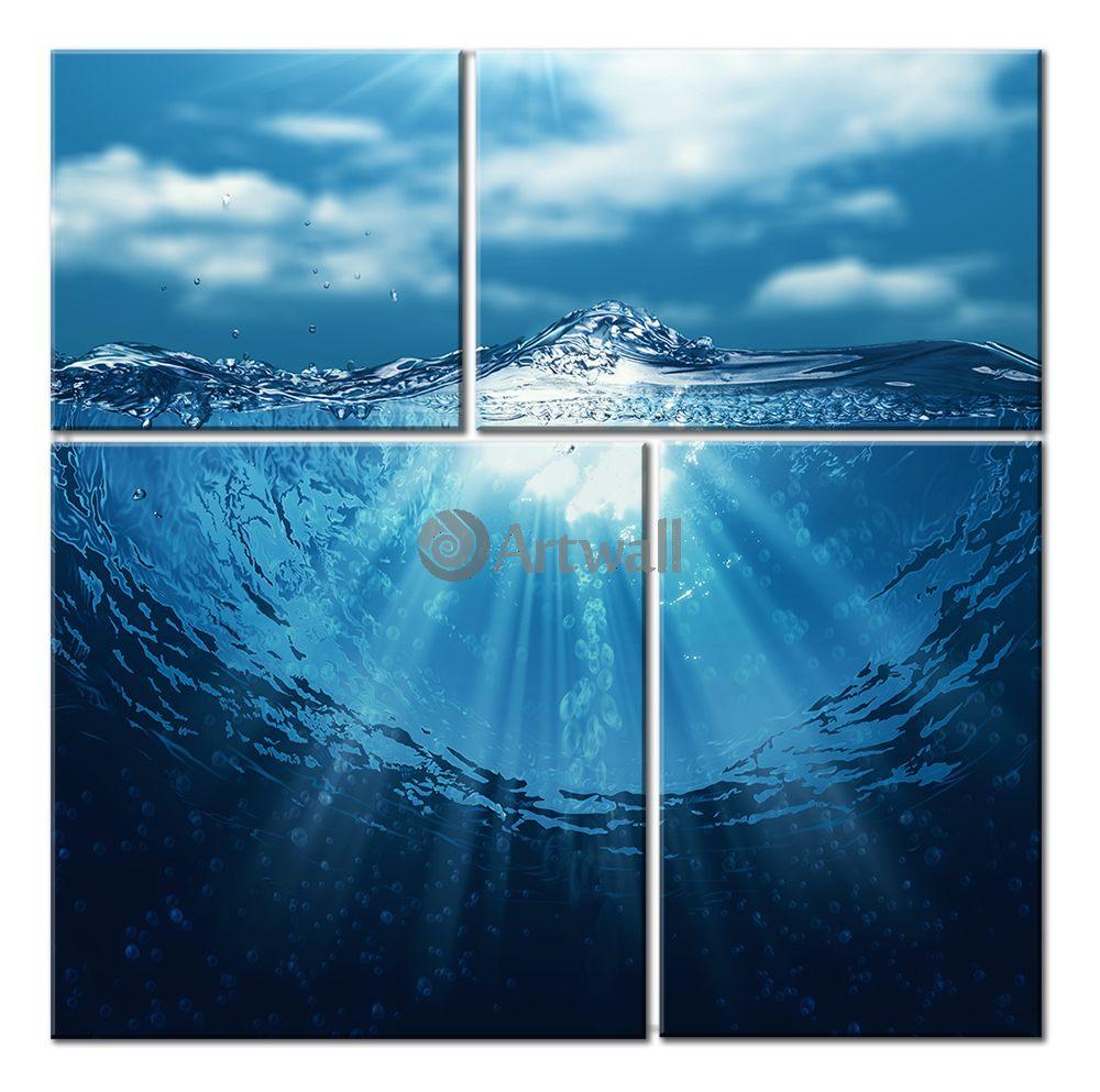 Модульная картина «Поэзия воды»Море<br>Модульная картина на натуральном холсте и деревянном подрамнике. Подвес в комплекте. Трехслойная надежная упаковка. Доставим в любую точку России. Вам осталось только повесить картину на стену!<br>