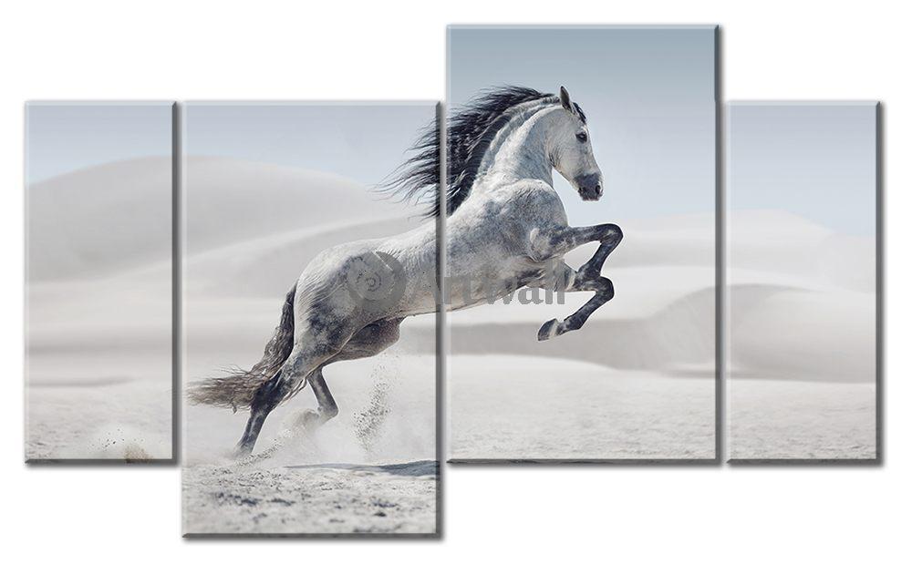 Модульная картина «Степной конь»Животные и птицы<br>Модульная картина на натуральном холсте и деревянном подрамнике. Подвес в комплекте. Трехслойная надежная упаковка. Доставим в любую точку России. Вам осталось только повесить картину на стену!<br>