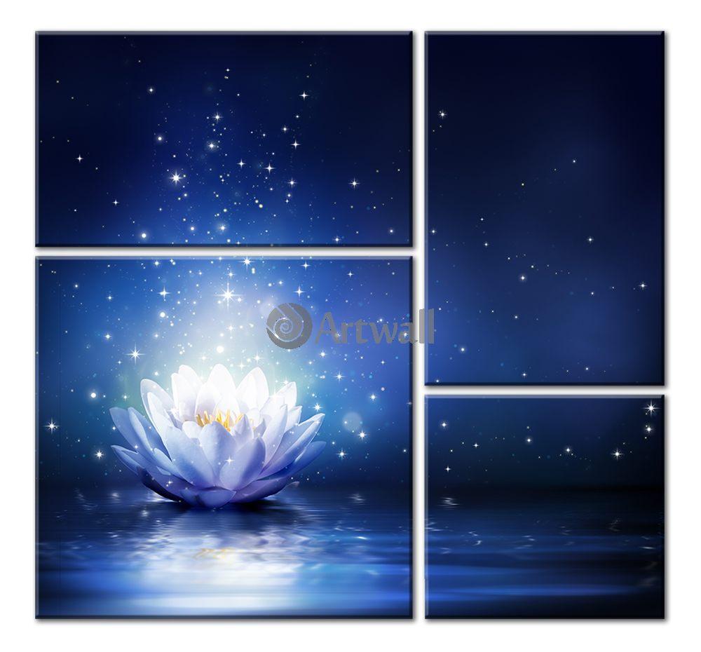 Модульная картина «Волшебный цветок»