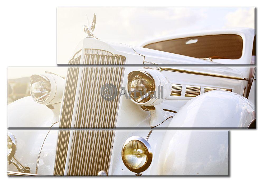 Модульная картина «Ретро автомобиль»Транспорт<br>Модульная картина на натуральном холсте и деревянном подрамнике. Подвес в комплекте. Трехслойная надежная упаковка. Доставим в любую точку России. Вам осталось только повесить картину на стену!<br>