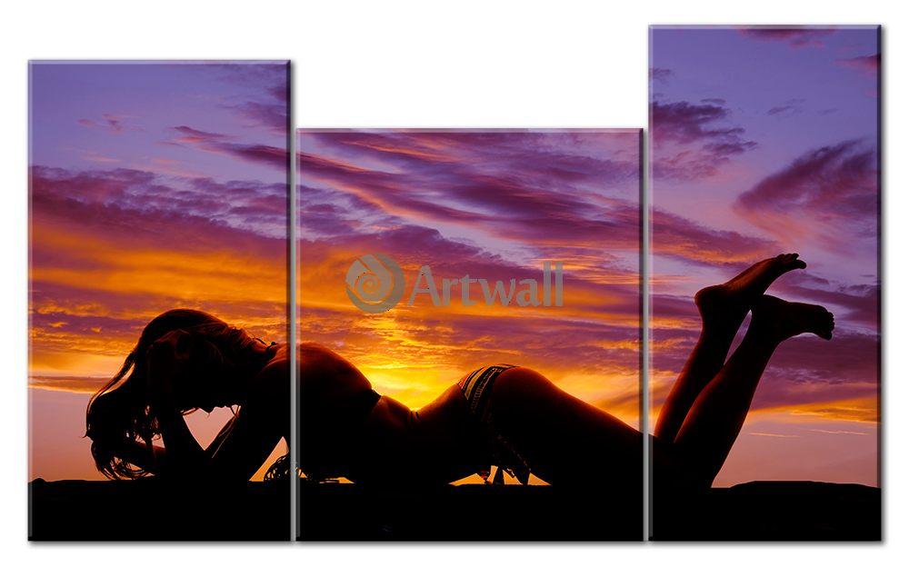 Модульная картина «Янтарный закат»Эротика<br>Модульная картина на натуральном холсте и деревянном подрамнике. Подвес в комплекте. Трехслойная надежная упаковка. Доставим в любую точку России. Вам осталось только повесить картину на стену!<br>